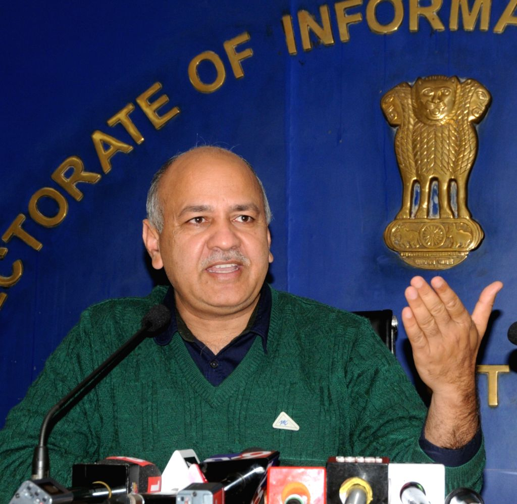 New Delhi: Delhi Deputy Chief Minister Manish Sisodia addresses a pres conference after 33rd GST Council meeting in New Delhi on Feb 20, 2019. (Photo: IANS) - Manish Sisodia