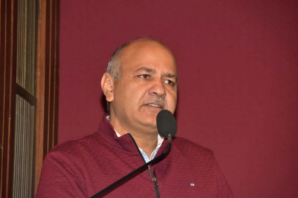 New Delhi: Delhi Deputy Chief Minister Manish Sisodia during poet Kaifi Azmis' centenary birth anniversary celebrations in New Delhi on Jan 8, 2019. (Photo Source: Triveni Kala Sangam) - Manish Sisodia