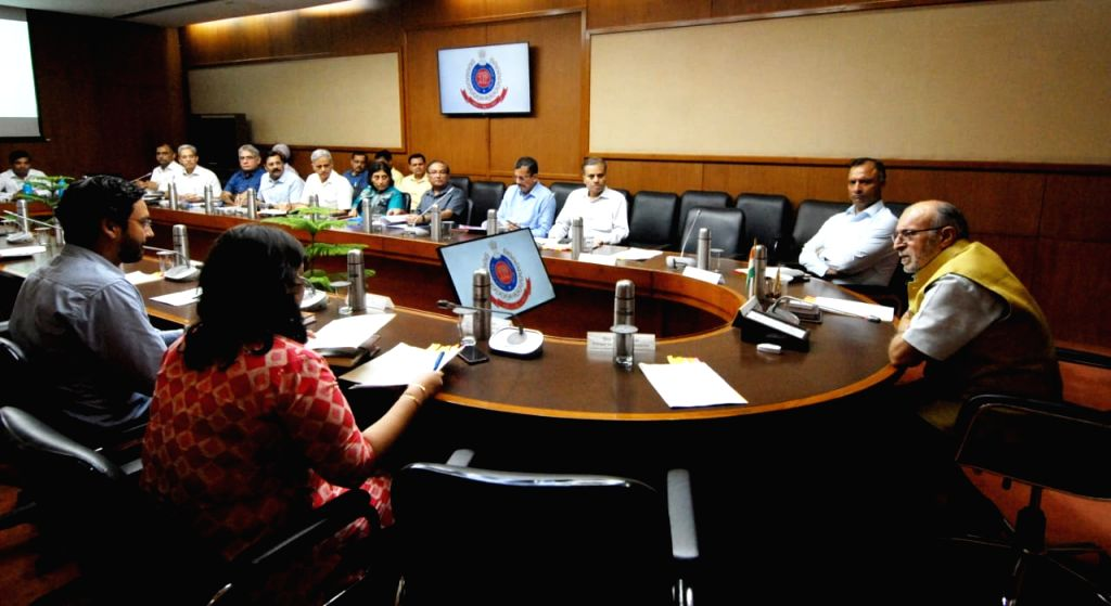 New Delhi: Delhi Lieutenant Governor (LG) Anil Baijal reviews the preparedness of Delhi Police in dealing with organised crimes involving use of weapons/arm, drug peddling, etc. and measures to effectively curb them, in New Delhi on Sep 26, 2019. (Ph
