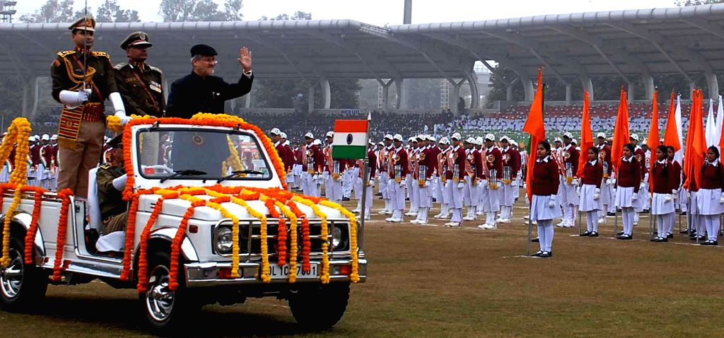 Delhi Lieutenant Governor Najeeb Jung during a programme organised to celebrate Republic Day at Chhatrasal Stadium in New Delhi on Jan 25, 2015.