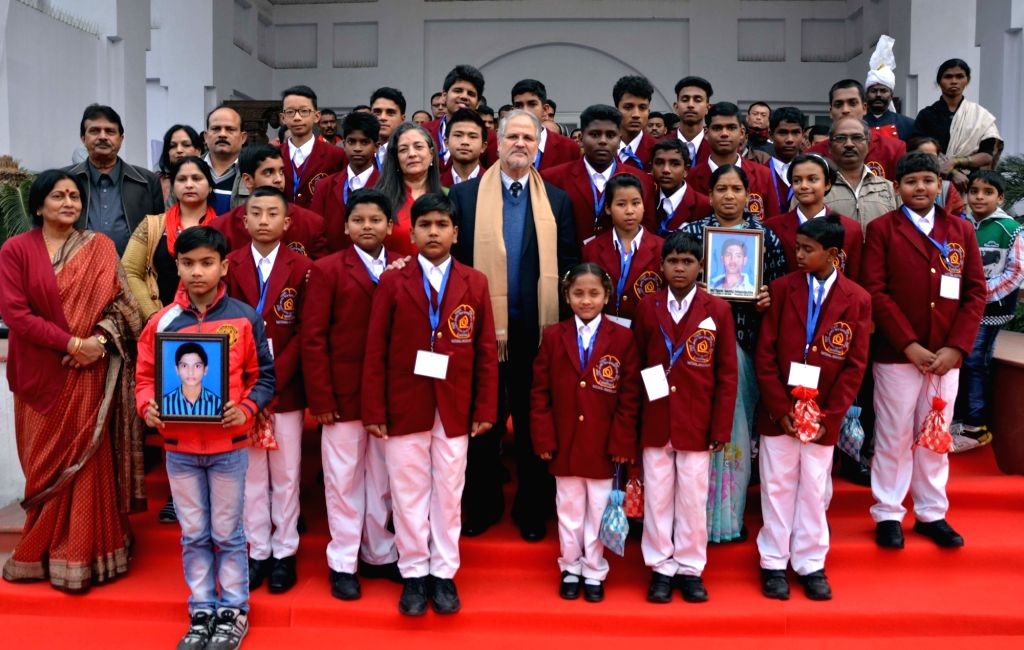 New Delhi: Delhi Lieutenant Governor Najeeb Jung during a programme organised to felicitate the Winners of the National Bravery Awards - 2015 in New Delhi, on Jan 19, 2016.