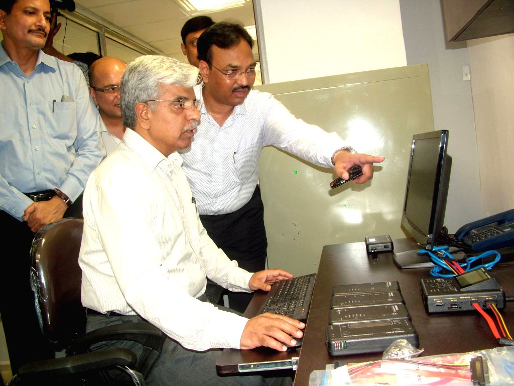 Delhi Police Commissioner BS Bassi at the launch of Cyber Cell of Crime Branch in New Delhi, on April 13, 2015.