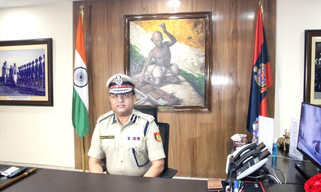 New Delhi:  Delhi Police Commissioner Rakesh Asthana takes charge from acting Commissioner Balaji Srivastav, at Delhi Police Headquarters, in New Delhi on Wednesday July 28 2021.(Photo: Qamar Sibtain/IANS)