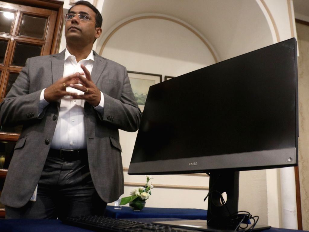 :New Delhi: Dell India Director and General Manager (Client Solutions Group) Indrajit Belgundi at the launch of Dell Optiplex Desktop, in New Delhi on June 14, 2018. (Photo: IANS).