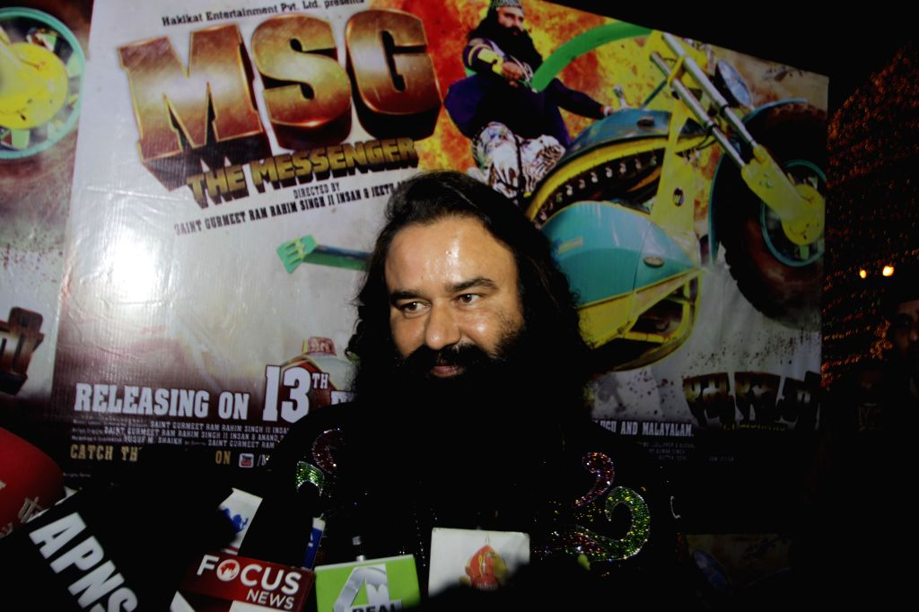 Ram Rahim Singh promotes his upcoming film 'MSG - The