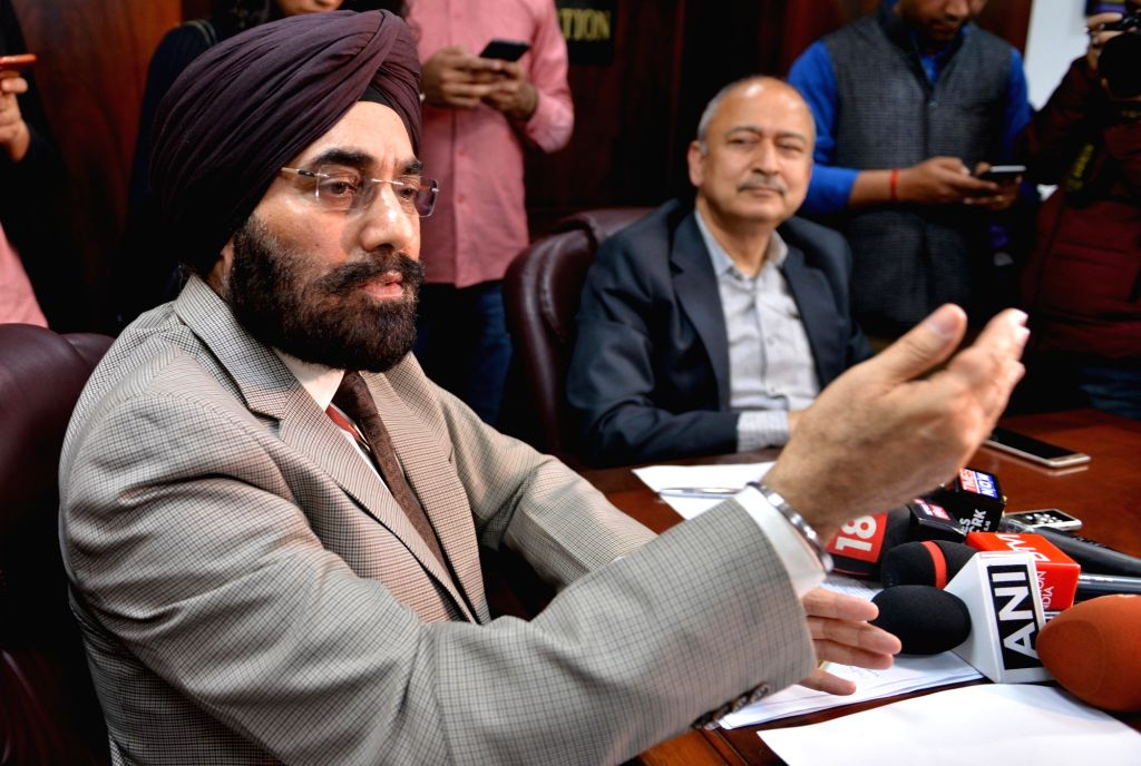 "New Delhi: Directorate General of Civil Aviation (DGCA) chief B.S. Bhullar along with Civil Aviation Secretary Pradeep Singh Kharola, addresses a press conference in New Delhi, on March 13, 2019. The DGCA late on Tuesday ordered ""grounding the Boeing"