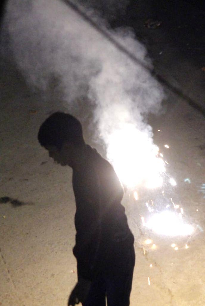 New Delhi: Diwali celebration and fireworks in New Delhi November 14, 2020. (Photo: IANS)