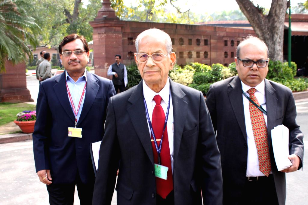 DMRC principal advisor E Sreedharan at the Parliament in New Delhi, on March 11, 2015.