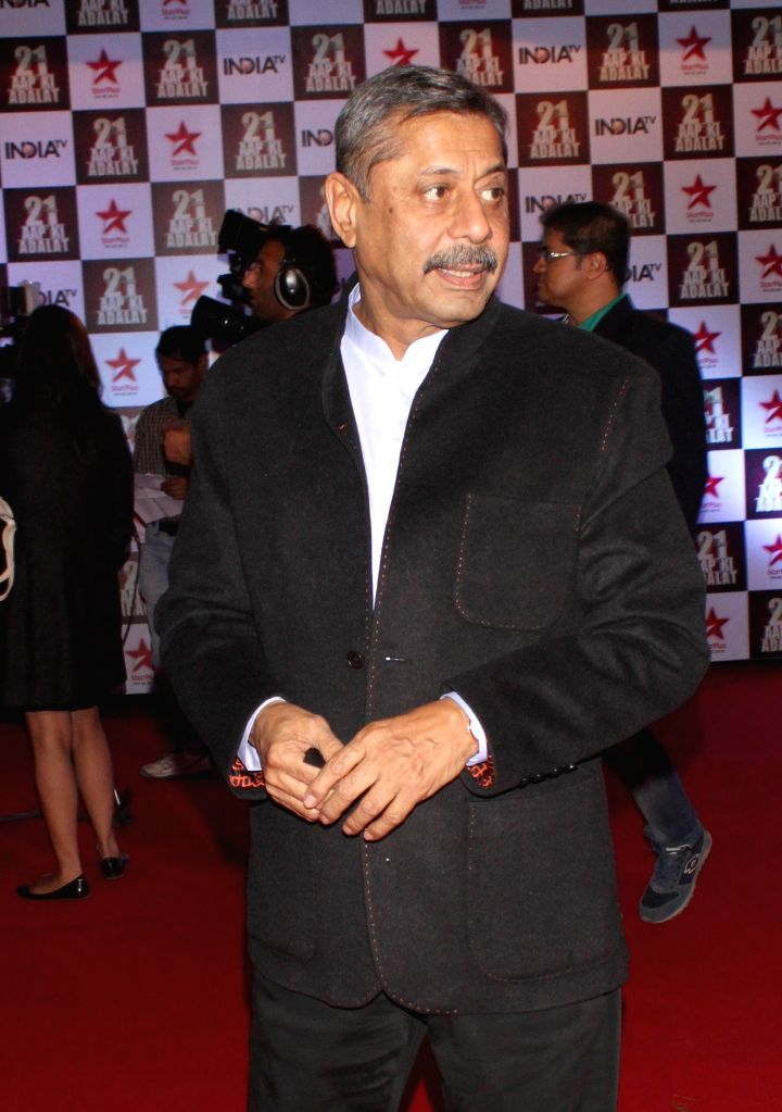 Dr Naresh Trehan during a programme organised to celebrate 21 years of a `Aap Ki Adalat` a TV show at Pragati Maidan in New Delhi on Dec 2, 2014.