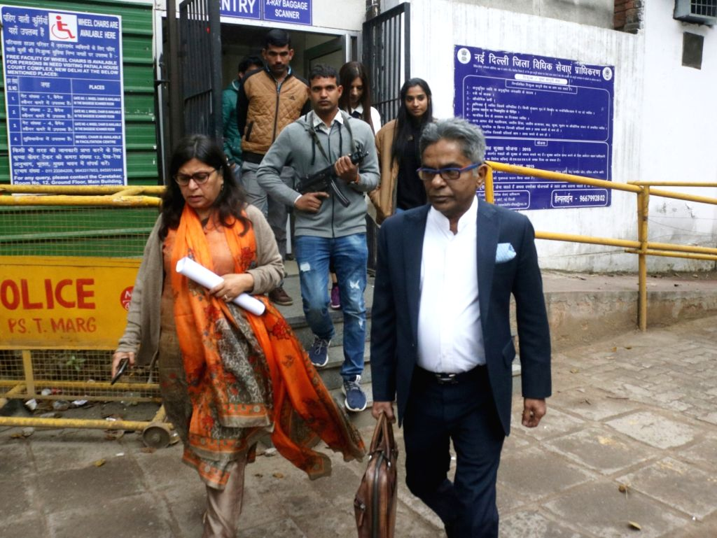 New Delhi: Dubai-based businessman Rajiv Saxena who wants to become an approver in the AgustaWestland VVIP chopper deal case leaves Delhi's Patiala House Court on March 2, 2019. (Photo: IANS)
