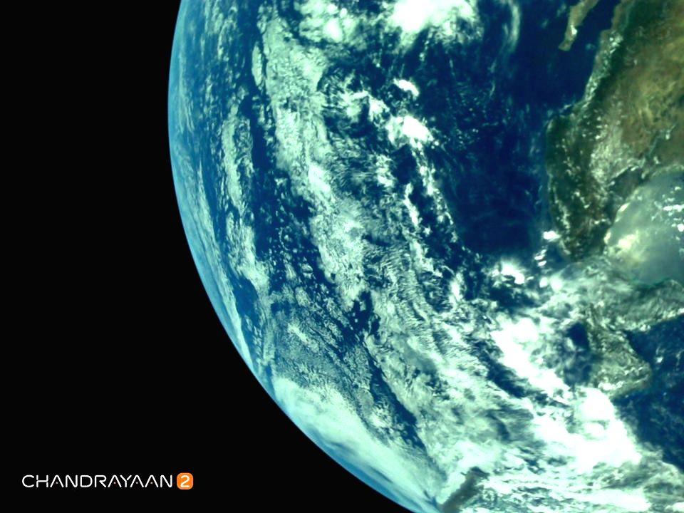 New Delhi : Earth as viewed by Chandrayaan-2's LI4 Camera on August 3, 2019 17:28 UT.