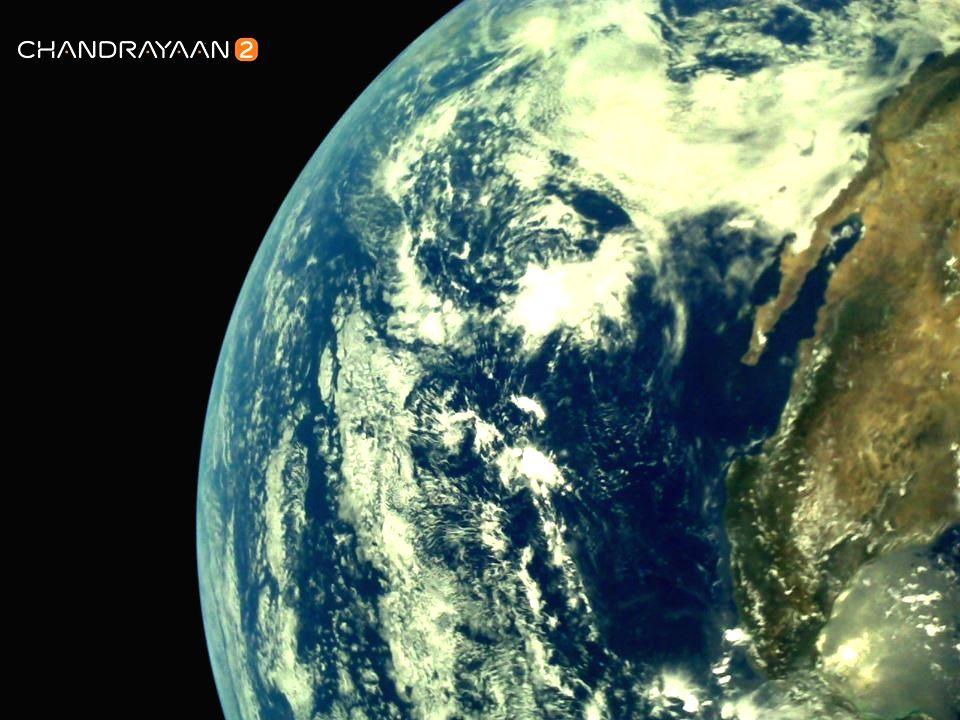 New Delhi : Earth as viewed by  Chandrayaan-2's LI4 Camera on August 3, 2019 17:29 UT.