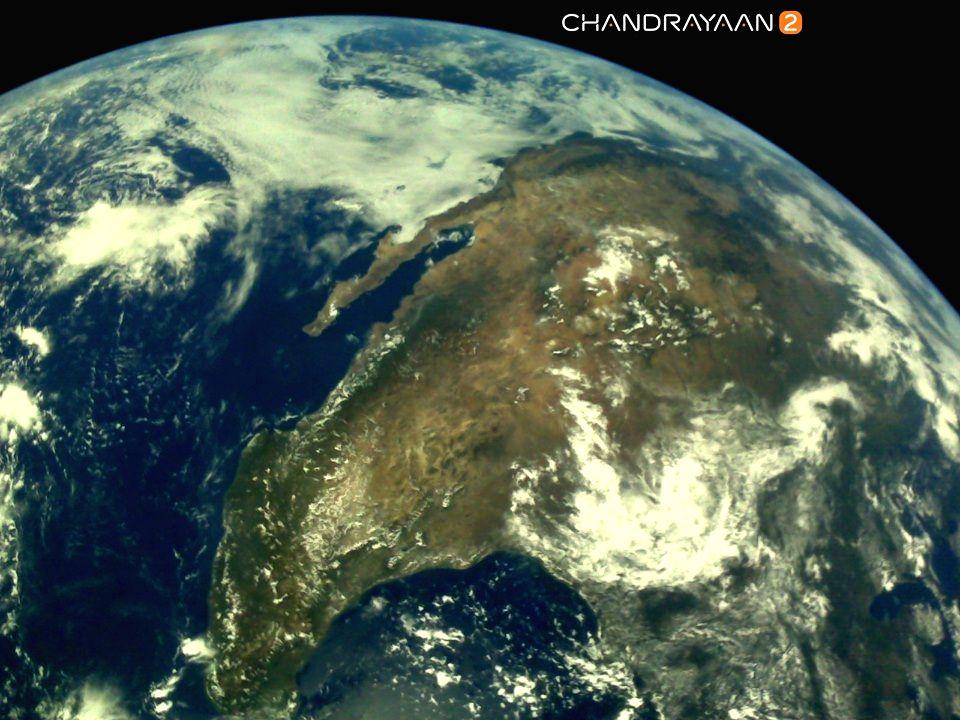 New Delhi : Earth as viewed by Chandrayaan-2's LI4 Camera on August 3, 2019 17:34 UT. (Photo: IANS/ISRO)