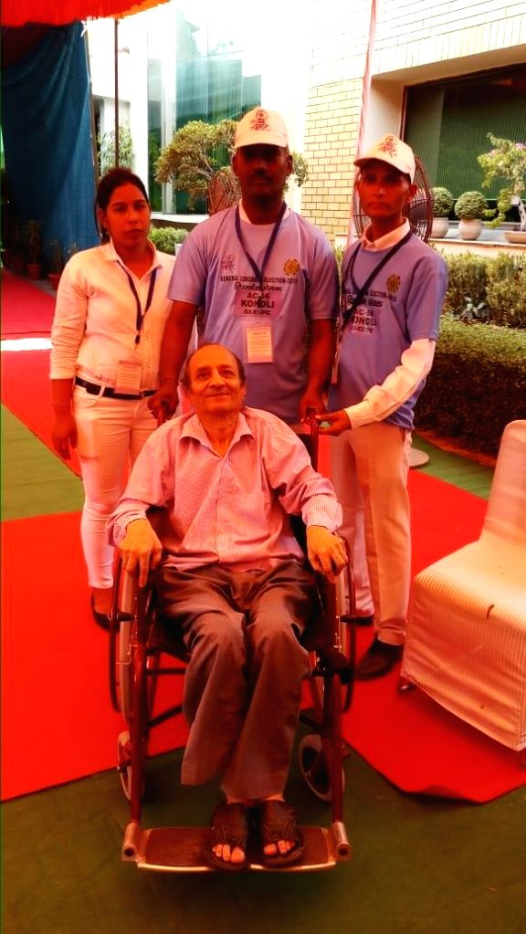 New Delhi: ECI's first of its kind initiatives for handicapped people. (Photo: IANS)