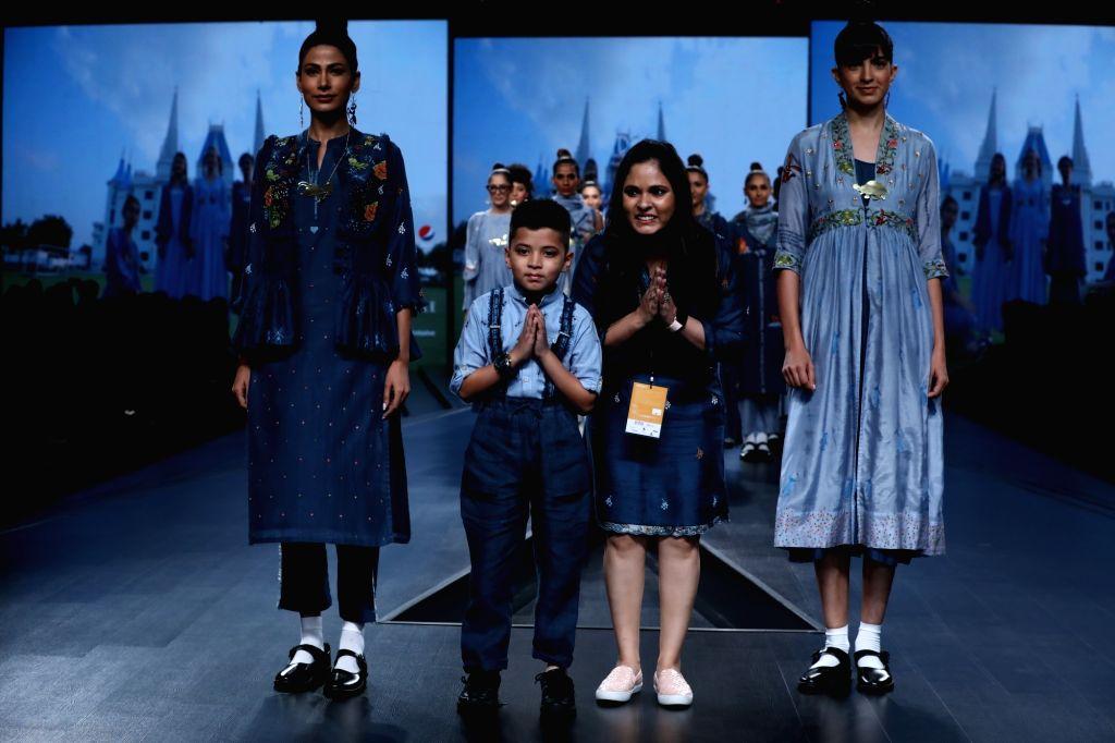 New Delhi: Fashion designer Gazal Mishra on the second day of Lotus Make-up India Fashion Week where her creations were showcased, in New Delhi on Oct 10, 2019. (Photo: IANS) - Gazal Mishra