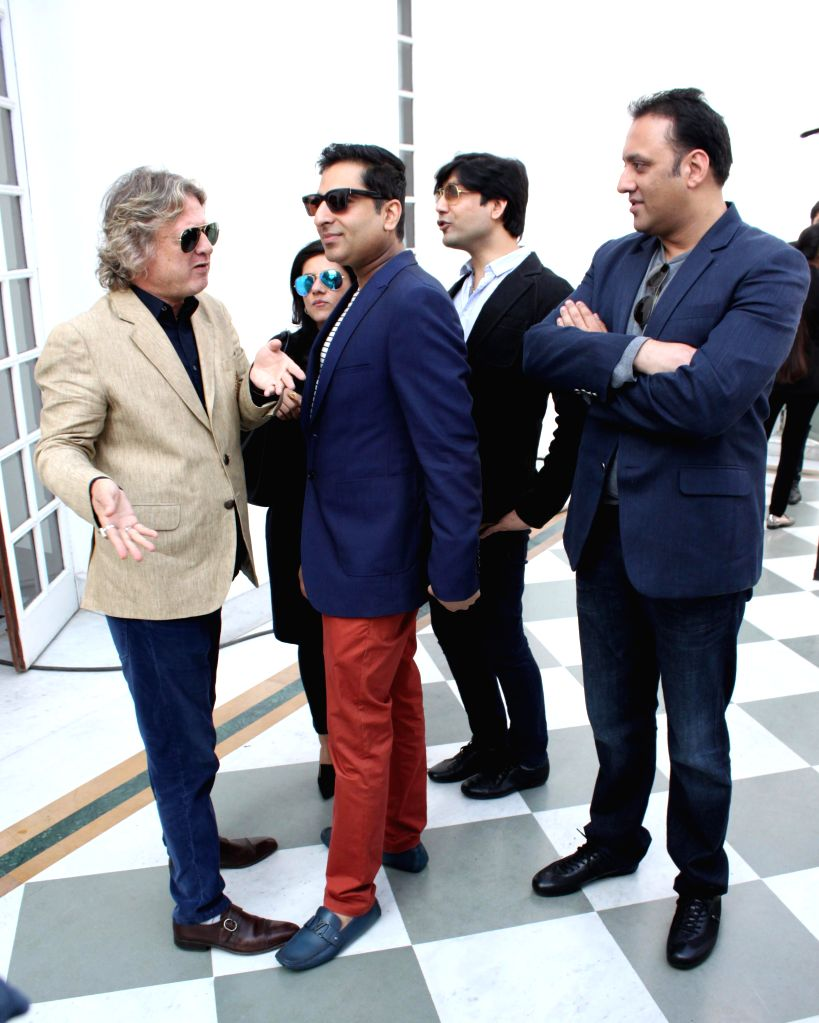 Fashion designer Rohit Bal during a programme organised to announce Amazon as the title sponsor of the 25th Edition of India Fashion Week in New Delhi on Feb 12, 2015.