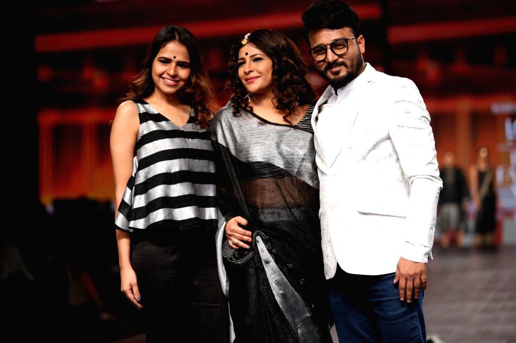 New Delhi: Fashion designers Rahul Anand and Anushka Laul on the third day of Lotus Make-up India Fashion Week, in New Delhi on Oct 11, 2019. (Photo: Amlan Paliwal/IANS)