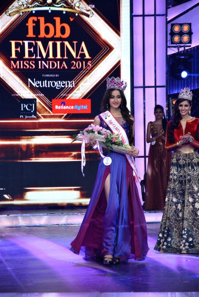 Femina Miss India World 2015 Aditi Arya at Yash Raj Studio in Mumbai.