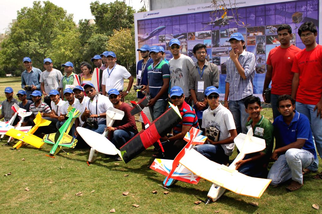 Finalists of `Aero-modelling Competition` at IIT Delhi in New Delhi on April 11, 2015.
