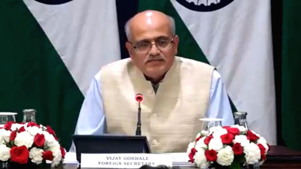 New Delhi: Foreign Secretary Vijay Gokhale briefs the media on the upcoming visit of Prime Minister Narendra Modi to Maldives and Sri Lanka, in New Delhi on June 6, 2019. (Photo: IANS/MEA) - Narendra Modi