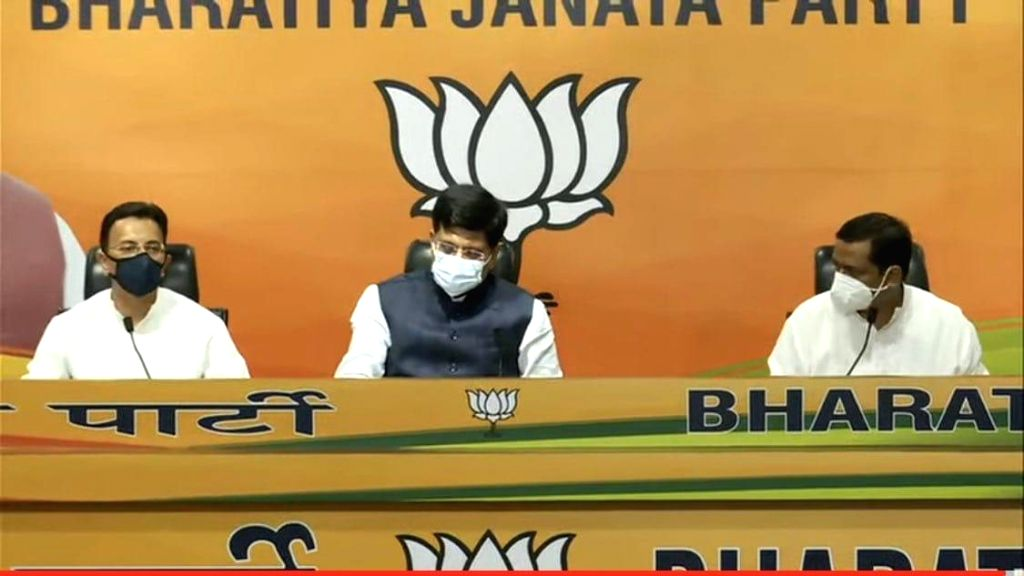 New Delhi : Former Congress leader and Union minister Jitin Prasada joined the Bharatiya Janata Party (BJP) on Wednesday in presence of party leader and Union minister Piyush Goyal, amid speculations of an eminent personality joining the saffron fold - Jitin Prasada