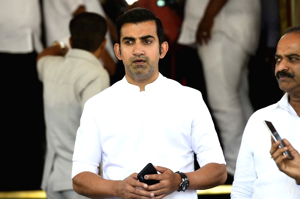 New Delhi: Former cricketer and East Delhi MP Gautam Gambhir at Parliament in New Delhi on June 18, 2019 (Photo: IANS)