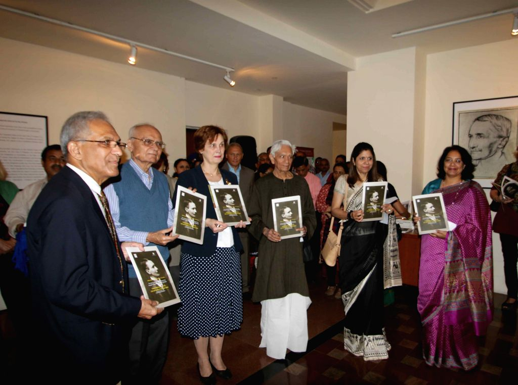 Former Foreign Secretary Salman Haider, Dr Agnes Kelecsényi,  IGNCA Member-Secretary Dipali Khanna and others at the inauguration of `Aurel Stein: Fascinated by the Orient` - an ... - Member-Secretary Dipali Khanna