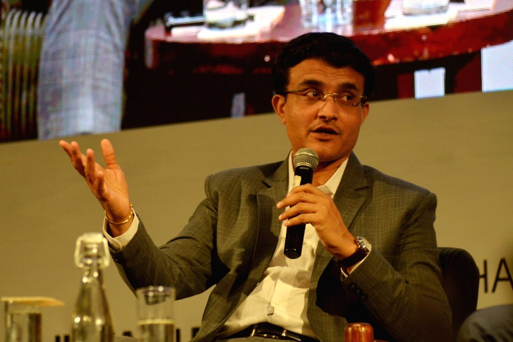 New Delhi: Former Indian Cricket captain and Cricket Association of Bengal (CAB) President Sourav Ganguly addresses during the 5th Progressive Teacher Conclave at India Habitat Center in New Delhi on Aug 31, 2019. (Photo: IANS) - Sourav Ganguly