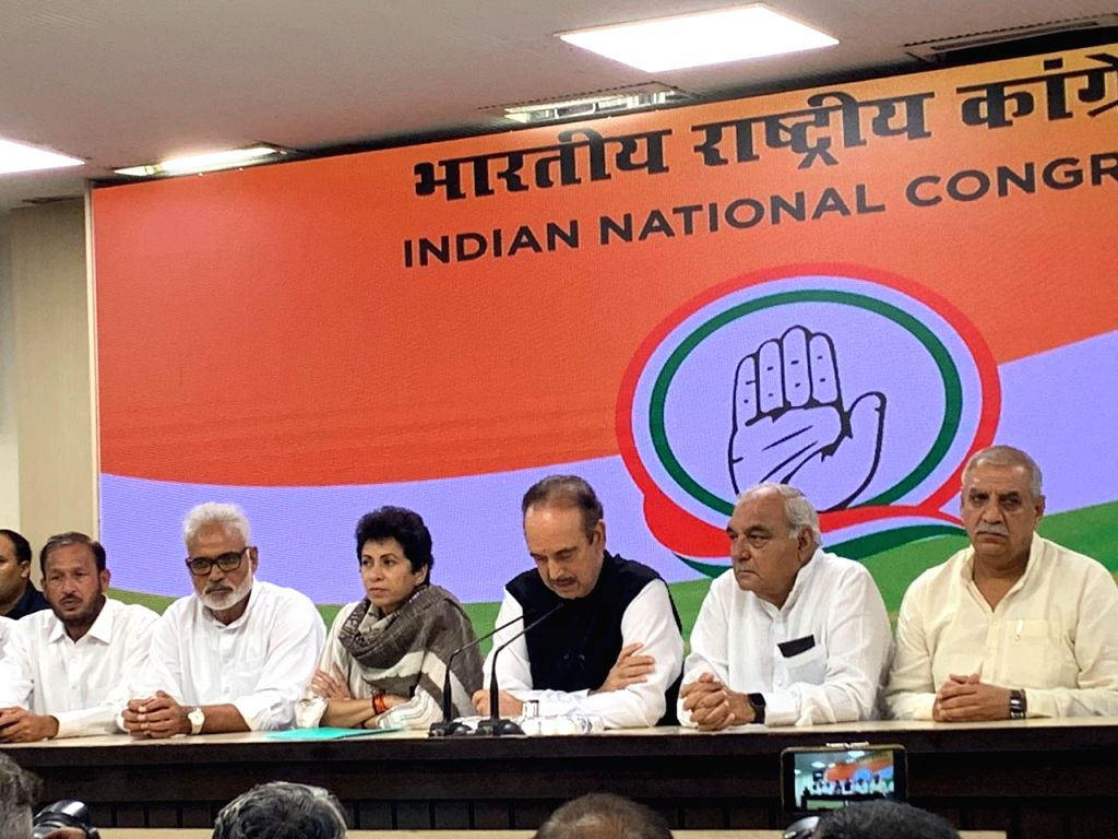 New Delhi: Former Indian National Lok Dal (INLD) President of Haryana Unit Ashok Arora, former INLD MLA Pradeep Chowdhary and former Minister Subhash Goyal join Congress in the presence of party's General Secretary Incharge Ghulam Nabi Azad in New De - Subhash Goyal and Bhupinder Singh Hooda