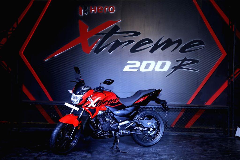 New Delhi: Hero MotoCorp Ltd unveils the 'Xtreme 200R' in New Delhi on Jan 30, 2018. (Photo: IANS)
