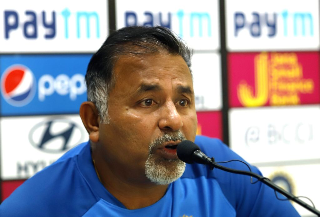 New Delhi: India's bowling coach Bharat Arun addresses a press conference ahead of the fifth ODI match between India and Australia at Feroz Shah Kotla Stadium, in New Delhi, on March 12, 2019. (Photo: Surjeet Yadav/IANS) - Surjeet Yadav