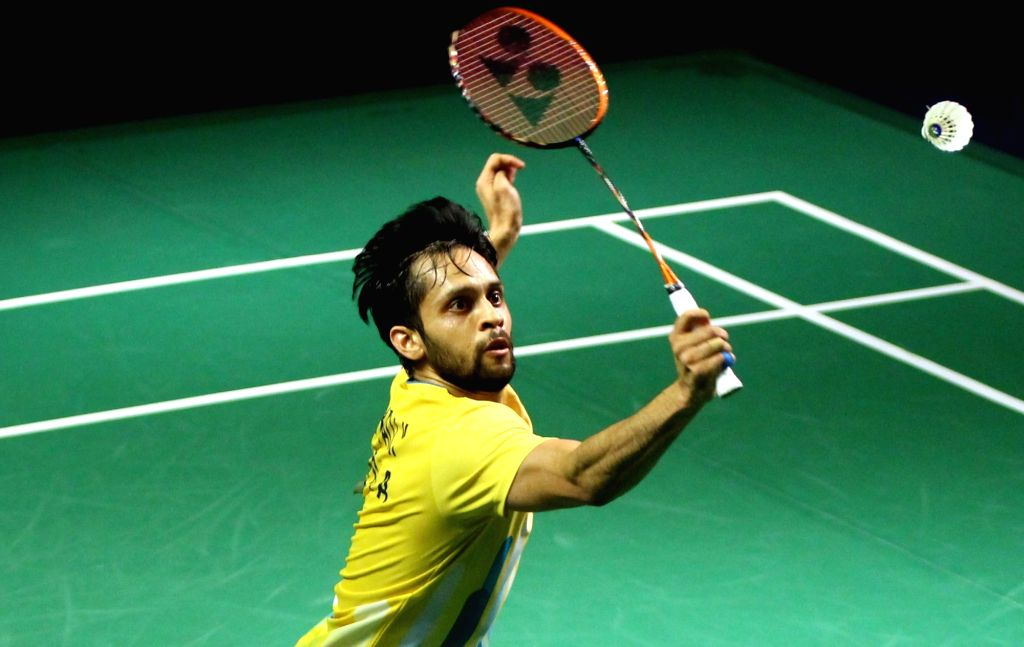 New Delhi: India's Parupalli Kashyap in action against Thai's Tanongsak Saensomboonsuk during Yonex-Sunrise India Open 2019 in New Delhi on March 28, 2019. (Photo: IANS) - Parupalli Kashyap