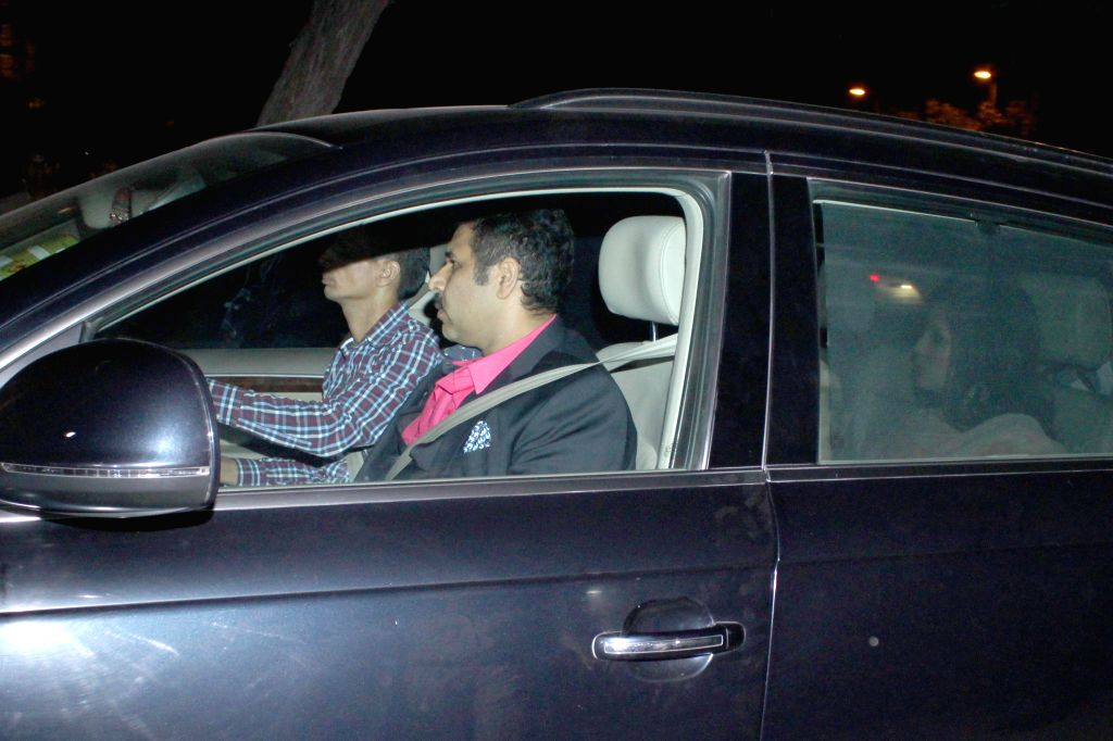 Indian cricket captain MS Dhoni arrives to attend the marriage ceremony of cricketer Suresh Raina in New Delhi on April 3, 2015. - MS Dhoni