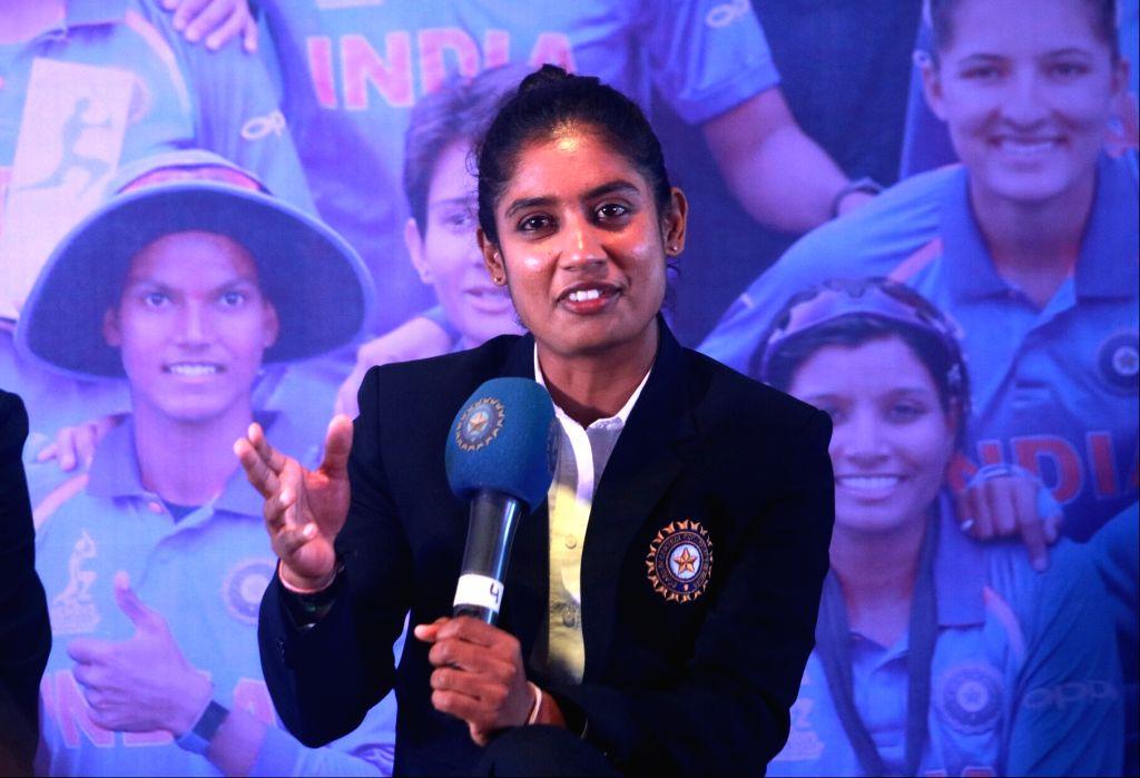 New Delhi: Indian women cricket team's captain Mithali Raj during a felicitation ceremony in New Delhi, on July 27, 2017. (Photo: IANS) - Mithali Raj