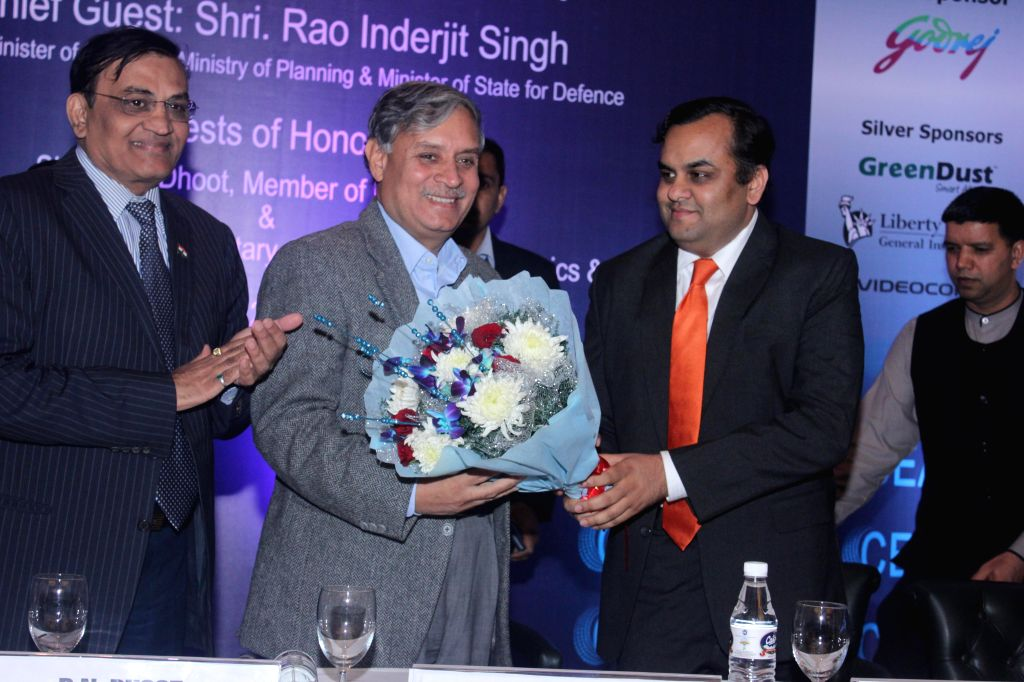 Industrialist and Rajya Sabha Member Rajkumar Dhoot and Union Minister of State for Defence Rao Inderjit Singh during the 35th Annual function of CEMA (Consumer Electronics & ... - Rao Inderjit Singh