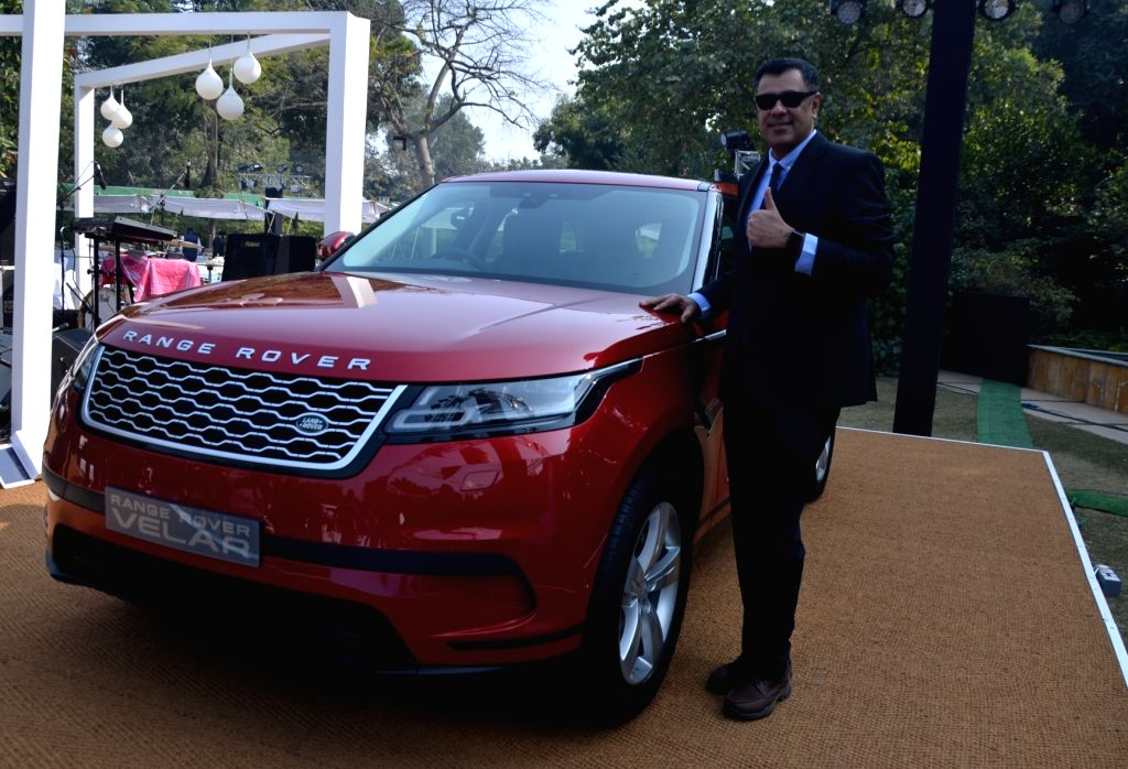 "New Delhi: Jaguar Land Rover India President and Managing Director Rohit Suri at the launch of SUV ""Range Rover Velar"" in New Delhi, on Jan 20, 2018. (Photo: Bidesh Manna/IANS) - Rohit Suri"