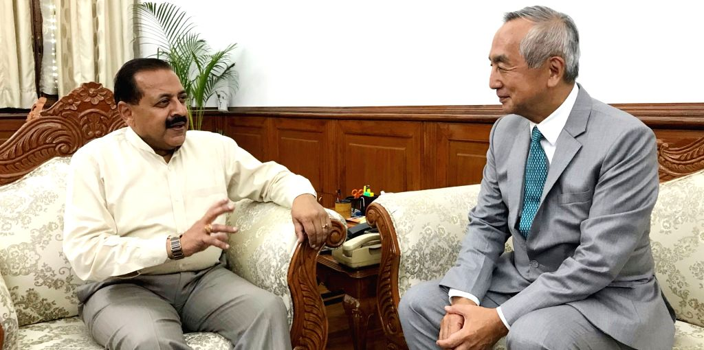 New Delhi: Japan's Ambassador to India Kenji Hiramatsu calls on Union MoS Development of North Eastern Region (I/C), Prime Minister's Office, Personnel, Public Grievances and Pensions, Atomic Energy and Space Jitendra Singh, in New Delhi o - Jitendra Singh