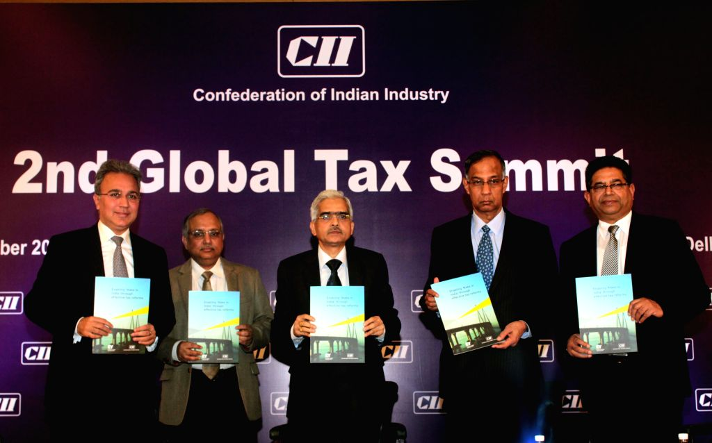 Joint Secretary (Budget) Ministry of Finance Shaktikanta Das at the inauguration of the 2nd Global Tax Summit organised by CII in New Delhi, on Dec 17, 2014.