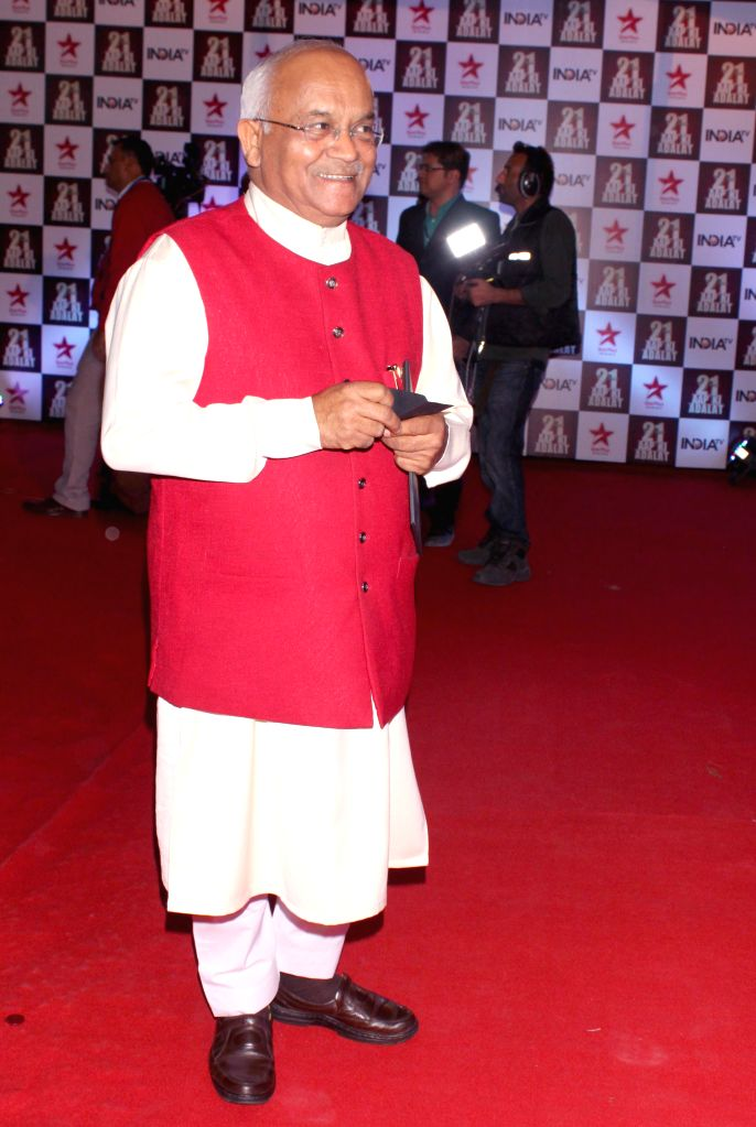 Journalist Ved Pratap Vaidik during a programme organised to celebrate 21 years of a `Aap Ki Adalat` a TV show at Pragati Maidan in New Delhi on Dec 2, 2014.