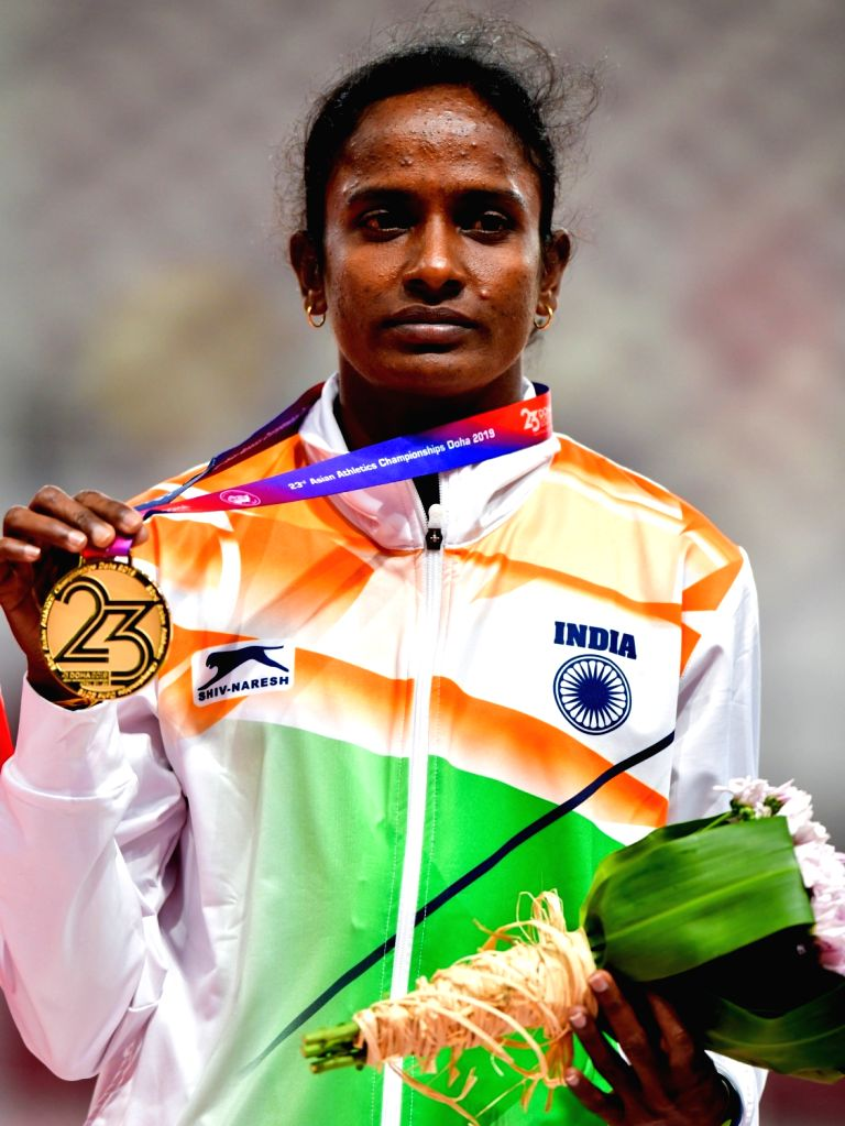 New Delhi, June 12 (IANS) Gomathi Marimuthu has been banned for four years and stripped off her 2019 Asian Championships gold medal, the Athletics Integrity Unity (AIU) announced on Friday.