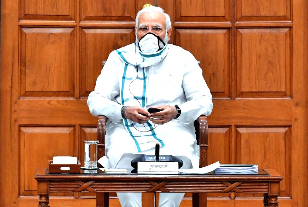 New Delhi, June 16 (IANS) Prime Minister Narendra Modi on Tuesday hinted that the opening of the economy will continue. However, he cautioned everyone to be mindful of wearing masks and maintaining hygiene and social distancing norms now that offices - Narendra Modi