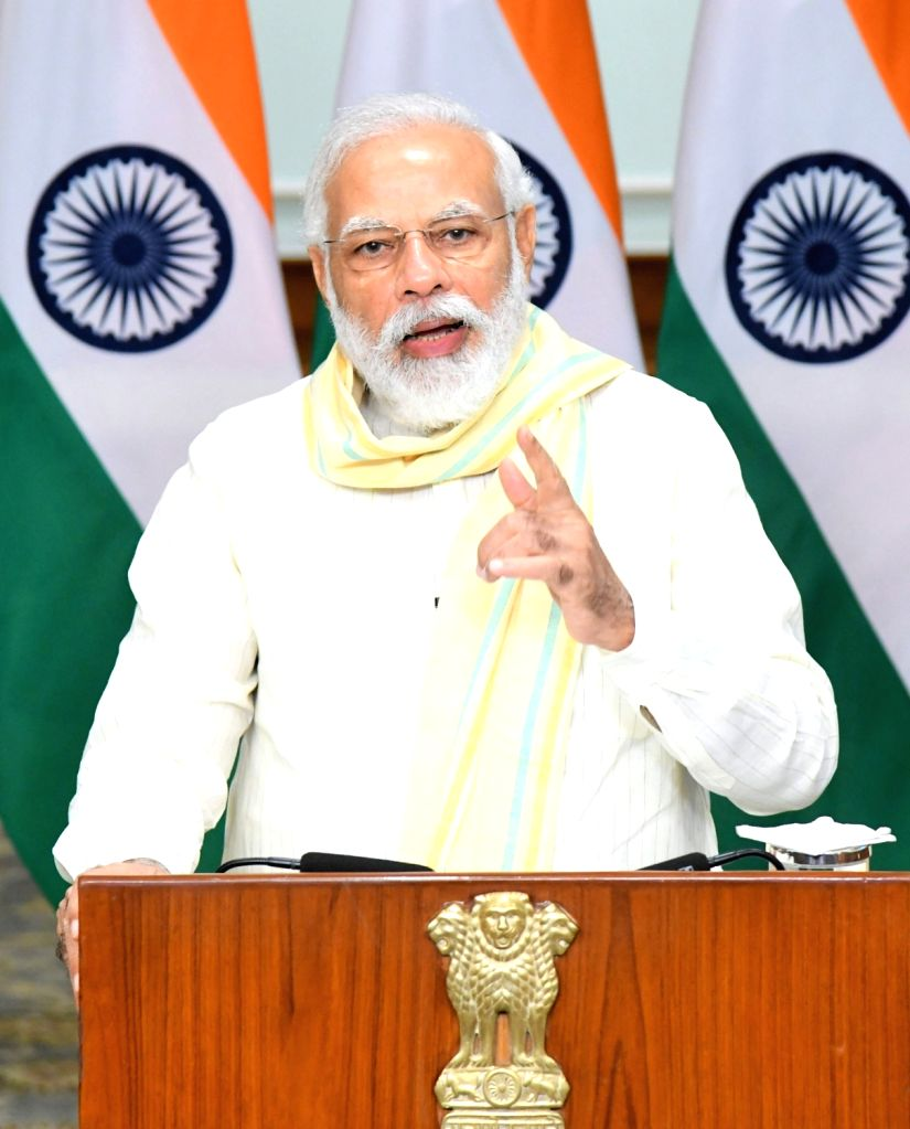 New Delhi, June 25 (IANS) Prime Minister Narendra Modi will launch the 'Atmanirbhar UP Rojgar Abhiyan' on Friday to provide employment to migrant workers and others who lost their jobs during Covid-19 pandemic. - Narendra Modi