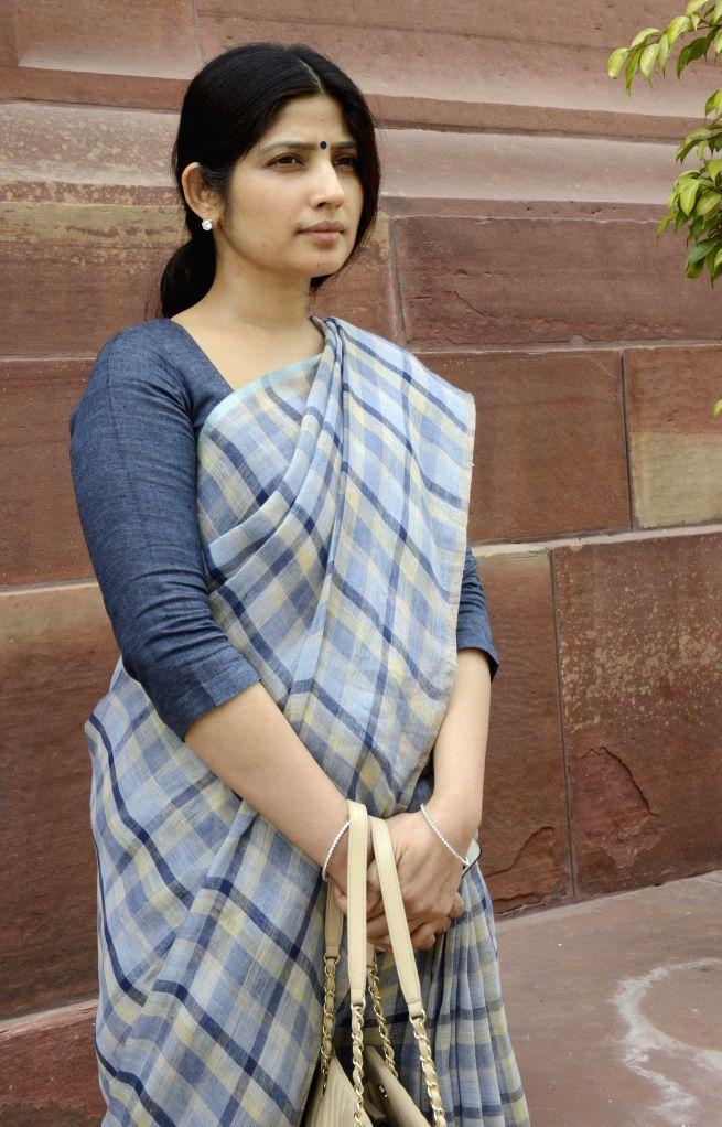 Kannauj MP Dimple Yadav at the Parliament house in New Delhi, on April 24, 2015. - Yadav