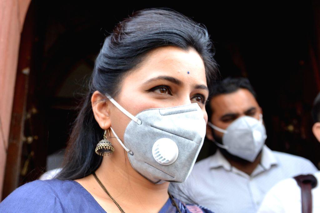 New Delhi: Lok Sabha MP Navneet Kaur at Parliament in New Delhi on March 4, 2020. (Photo: IANS) - Navneet Kaur
