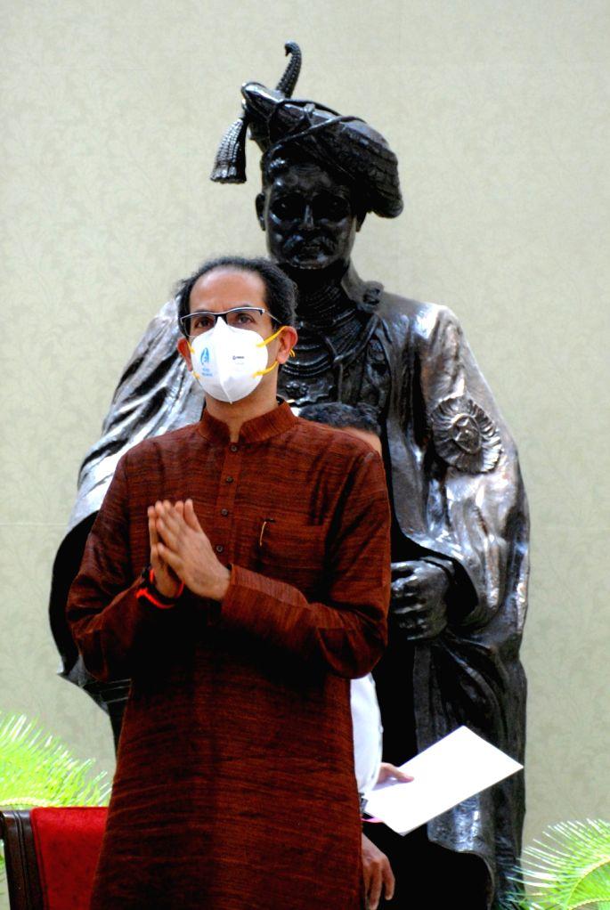 New Delhi: Maharashtra CM Uddhav Thackeray address to media after meet with PM Narendra Modi in New Delhi on Tuesday, 08 June, 2021.(Photo: Qamar Sibtain/IANS) - Narendra Modi