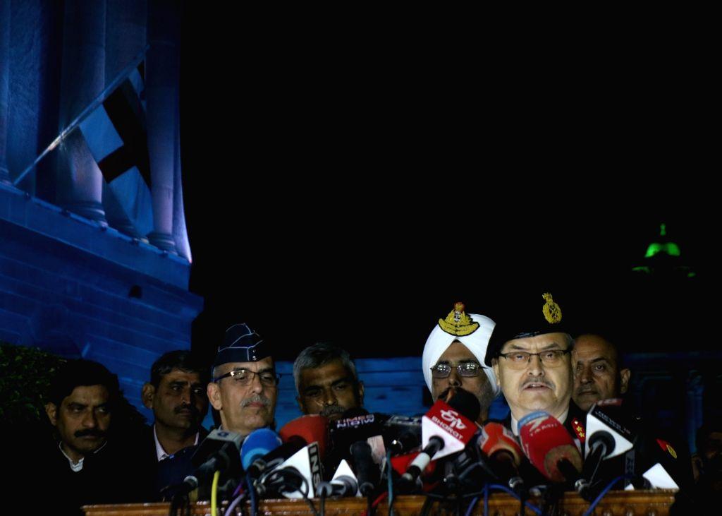 New Delhi: Major General S.S. Mahal during a press conference in New Delhi on Feb 28, 2019. (Photo: IANS)
