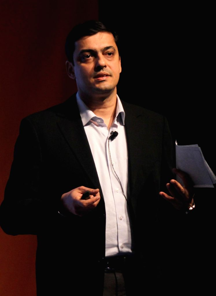 Managing Director of Nokia India Ajey Mehta at the launch of a Nokia smartphone in New Delhi, on Nov 26, 2014. - Ajey Mehta
