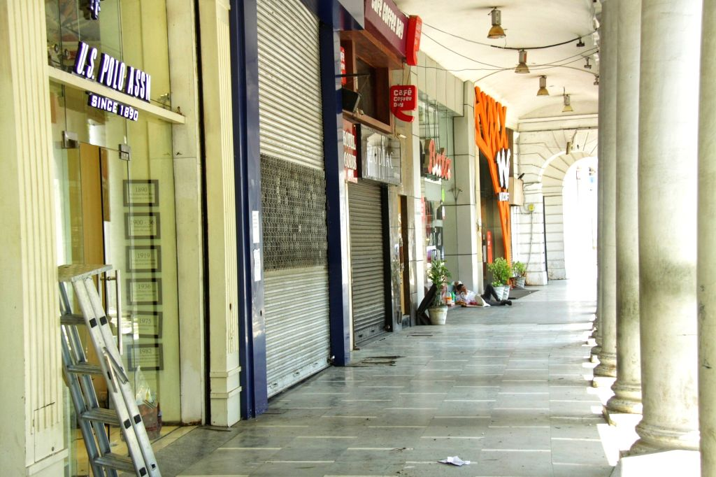 New Delhi: Many stores at Delhi's Connaught Place re-open with precautions in place, on the third day of the fourth phase of the nationwide lockdown imposed to mitigate the spread of coronavirus, on May 20, 2020. (Photo: IANS)
