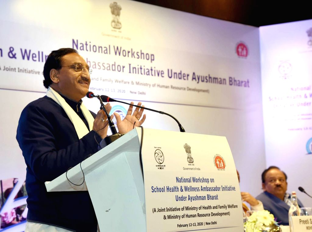 New Delhi, March 30 (IANS) Amidst the Covid-19 shutdown, HRD minister Ramesh Pokhriyal 'Nishank' on Monday advised the National Testing Agency to postpone the last date of application for entrance in leading institutes like JNU and others. - Ramesh Pokhriyal