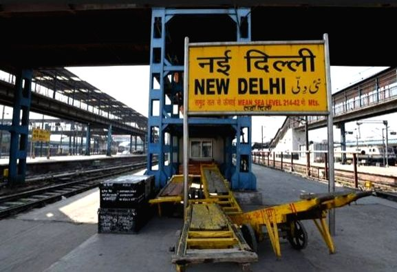 New Delhi, May 7 (IANS) At least 30 companies, including foreign and domestic firms participated in the pre-bid meeting for the redevelopment of the New Delhi railway station via video conferencing.(File Photo: IANS)